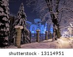Night View  Winter Landscape Of ...