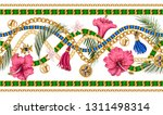 seamless summer pattern with... | Shutterstock .eps vector #1311498314