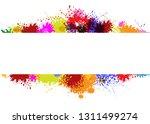 vector frame on splash color... | Shutterstock .eps vector #1311499274