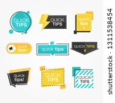 colorful set tip labels with... | Shutterstock .eps vector #1311538454