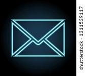 letter envelope neon icon....