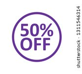 50  off discount icon. special...