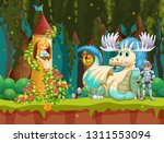beautiful princess in forest... | Shutterstock .eps vector #1311553094