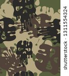 camouflage pattern with... | Shutterstock .eps vector #1311554324