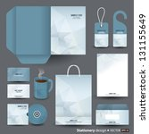 stationery design set in vector ... | Shutterstock .eps vector #131155649