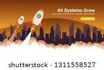 start up simple rocket web... | Shutterstock .eps vector #1311558527