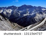 snow covered mountain pass at... | Shutterstock . vector #1311564737