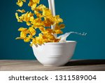 a bowl of healthy corn flakes... | Shutterstock . vector #1311589004