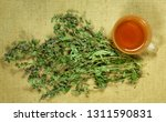 mint  spearmint. dry herbs for... | Shutterstock . vector #1311590831