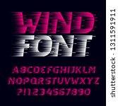 fast wind alphabet font. speed... | Shutterstock .eps vector #1311591911