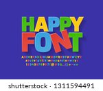 vector flat colorful happy font.... | Shutterstock .eps vector #1311594491