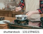 focus female hands holding... | Shutterstock . vector #1311596021