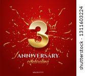3 golden number and anniversary ... | Shutterstock .eps vector #1311603224