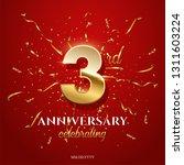 3 golden number and anniversary ... | Shutterstock .eps vector #1311603224