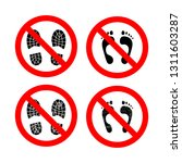 Do Not Step Glyph Vector Icons...