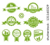 eco vintage labels bio template ... | Shutterstock .eps vector #131160329