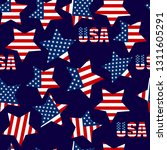 seamless patterns with american ... | Shutterstock .eps vector #1311605291