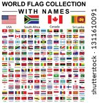 world flag collection with names   Shutterstock . vector #1311610091