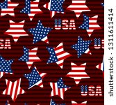 seamless patterns with american ... | Shutterstock .eps vector #1311611414