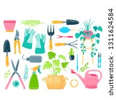 vector set hand drawn... | Shutterstock .eps vector #1311624584