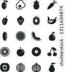 solid black vector icon set  ... | Shutterstock .eps vector #1311634874