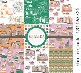 sun sea collection | Shutterstock .eps vector #131163725