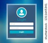 modern login form page. website ...