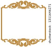 golden vintage baroque ornament ... | Shutterstock .eps vector #1311646271