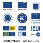 made in europe labels set ... | Shutterstock .eps vector #1311648647