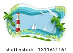 beautiful views of the beach.... | Shutterstock .eps vector #1311651161