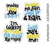 sticker set design template... | Shutterstock .eps vector #1311654314