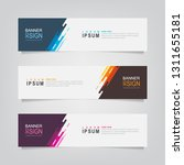 vector abstract banner design... | Shutterstock .eps vector #1311655181
