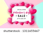 valentine's day sale concept... | Shutterstock .eps vector #1311655667