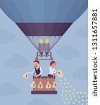 businesspeople on hot air... | Shutterstock .eps vector #1311657881