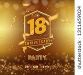 18 years anniversary logo... | Shutterstock .eps vector #1311659024