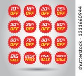 discount stickers vector icon... | Shutterstock .eps vector #1311660944
