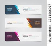 vector abstract banner design... | Shutterstock .eps vector #1311666017