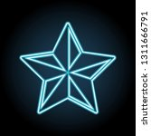 star neon icon. simple thin...