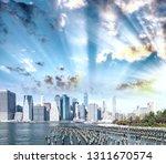 downtown manhattan skyline at... | Shutterstock . vector #1311670574