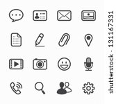 chat application icons with... | Shutterstock .eps vector #131167331