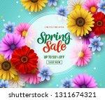 spring sale vector banner... | Shutterstock .eps vector #1311674321