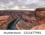 a view of the horseshoe bend at ...   Shutterstock . vector #1311677981