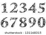 digits and numbers set with... | Shutterstock .eps vector #131168315