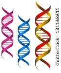 dna elements and molecules for... | Shutterstock .eps vector #131168615