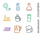 9 beverage icons. trendy...   Shutterstock .eps vector #1311692834