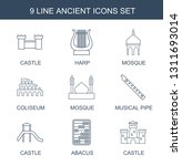 9 ancient icons. trendy ancient ... | Shutterstock .eps vector #1311693014