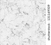 white mosaic marble texture.... | Shutterstock . vector #131169509