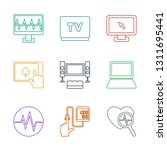 monitor icons. trendy 9 monitor ... | Shutterstock .eps vector #1311695441