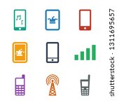 cellular icons. trendy 9... | Shutterstock .eps vector #1311695657