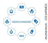8 merchandise icons. trendy... | Shutterstock .eps vector #1311696821